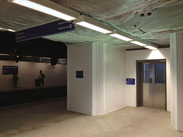 All change at New Street: lift on platforms 4 and 5