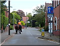 SP3997 : Horse rider on Station Road in Stoke Golding by Mat Fascione