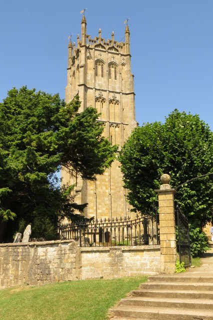 The tower of St James' Church