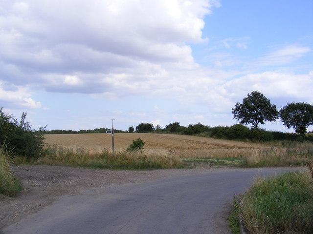 Old Hall Road & footpath