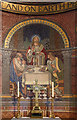 TQ3073 : Christ Church, Christchurch Road, Streatham - Reredos by John Salmon