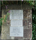 NS2982 : Plaques at Hermitage Park by Thomas Nugent