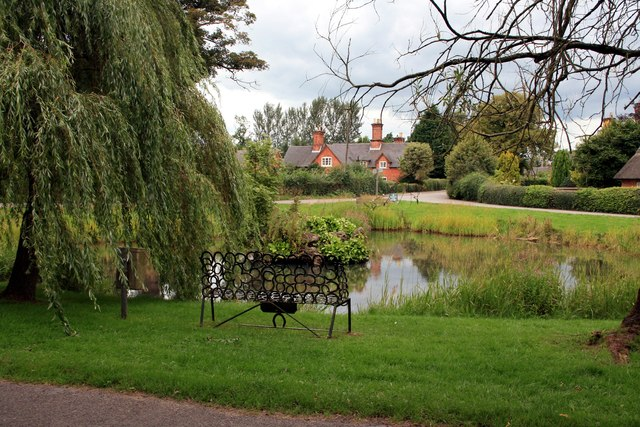 Duck pond and village green