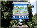 TM1083 : Shelfanger Village sign by Adrian Cable