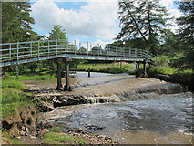NY8450 : Ford and footbridge on the River East Allen by Mike Quinn