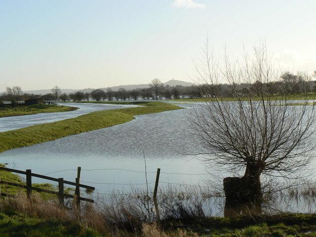 Winter Floods at Westhay Bridge