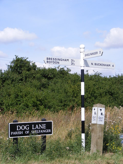 Roadsign on Dog Lane