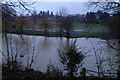 SP2965 : River Avon by Emscote Gardens, Warwick 2012, November 24, 16:09 by Robin Stott