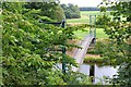 NT6131 : Mertoun footbridge from the west by Jim Barton