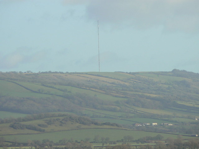 Mendip (Pen Hill) TV transmitter from Wedmore