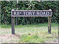 TM1083 : Rectory Road sign by Adrian Cable