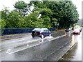 H4673 : Heavy spray along Killyclogher Road by Kenneth  Allen