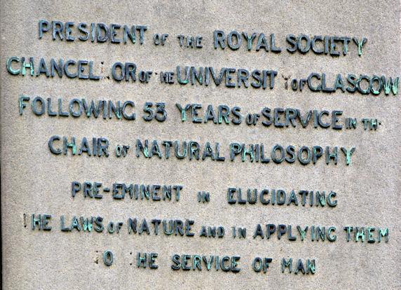Lord Kelvin's statue, Belfast (2013-3)