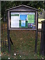 TM1085 : St.Mary the Virgin Church Notice Board by Adrian Cable