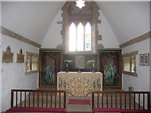 SO5932 : Part of the interior at All Saints church, Brockhampton by Jeremy Bolwell