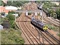 SJ8499 : Train Approaching Ducie Bridge by David Dixon