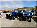 TV5596 : Vintage Cars in Car Park at Birling Gap by PAUL FARMER