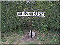 TM0986 : Furze Farm sign by Adrian Cable