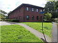 SO0528 : North side of Powys County Council offices, Brecon by Jaggery