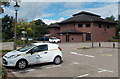 SO0528 : Powys County Council office and van, Brecon by Jaggery