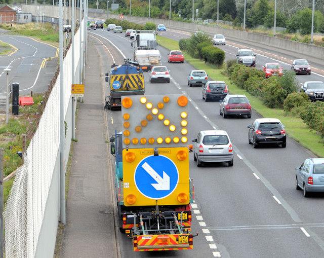 Self-propelled road sign, Belfast