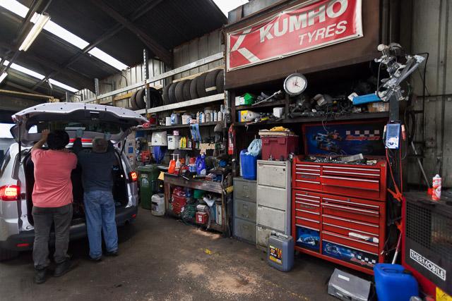 Interior of Radcliffe Road Garage, Northam