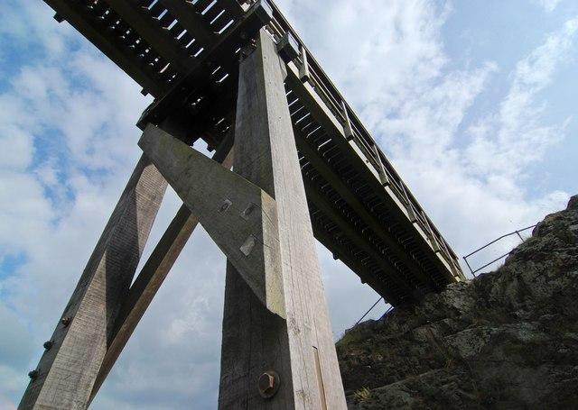 Bridge support at Montgomery Castle