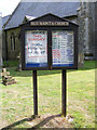 TM1083 : All Saints Church Notice Board by Adrian Cable