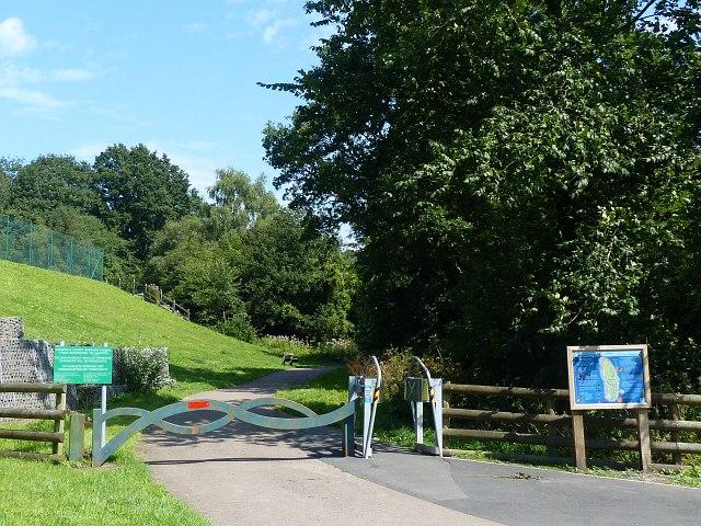 Entrance to Bargoed Woodland Park / Parc Coetir Bargod by Robin Drayton