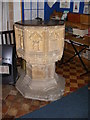 TM1083 : Font of All Saints Church, Selfanger by Adrian Cable