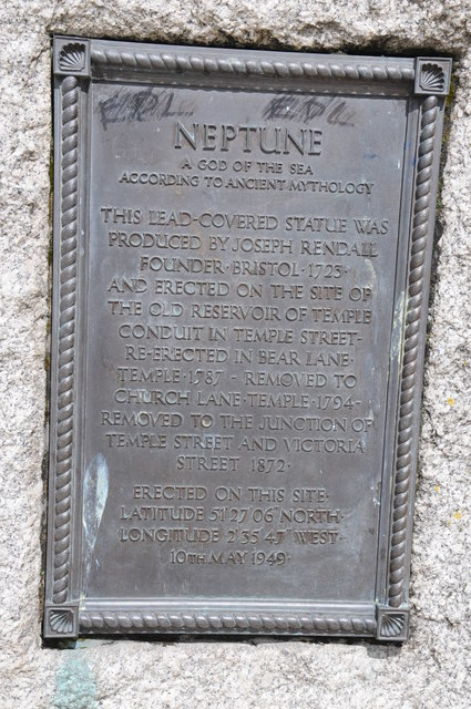 Plaque on the Neptune Statue