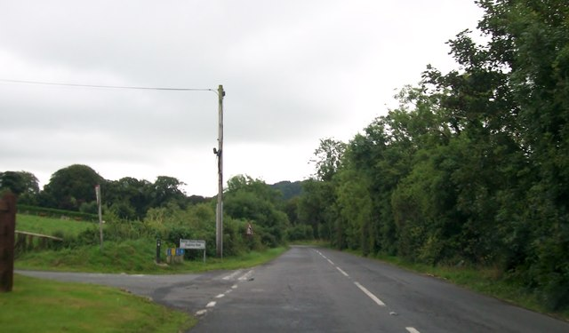 Longfield Road at its junction with the minor Cloughinny Road