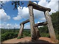 "SO6112 : The sculpture ""Place"" in Forest of Dean Sculpture Trail (removed in 2015) by David Smith"