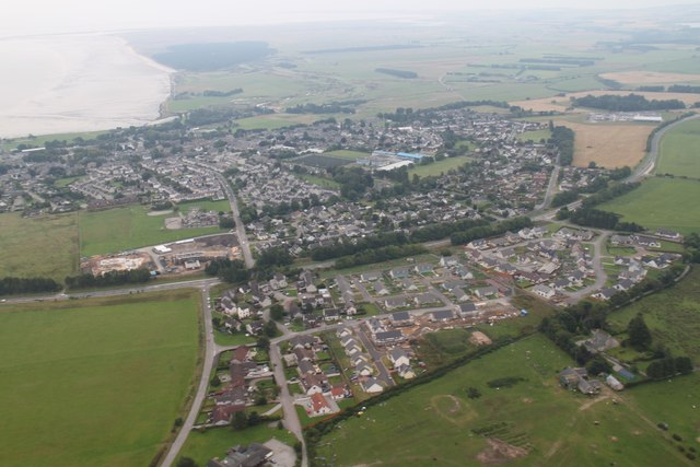 Aerial view of Tain