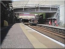NS2776 : Greenock West railway station, Inverclyde by Nigel Thompson