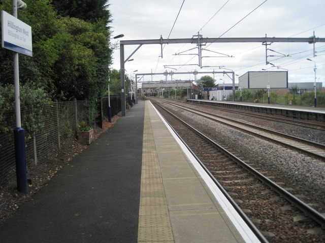 Hillington West railway station, Renfrewshire