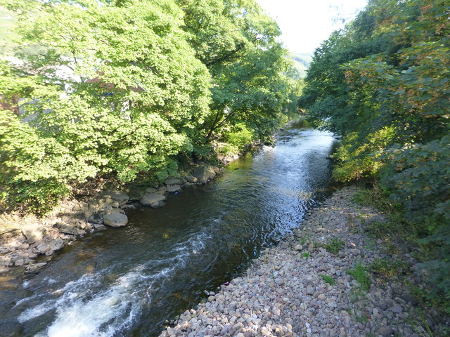 River Taff at Troedyrhiw by Ruth Sharville