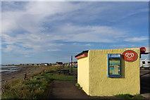 NX1896 : Kiosk at Ainslie Car Park, Girvan by Leslie Barrie