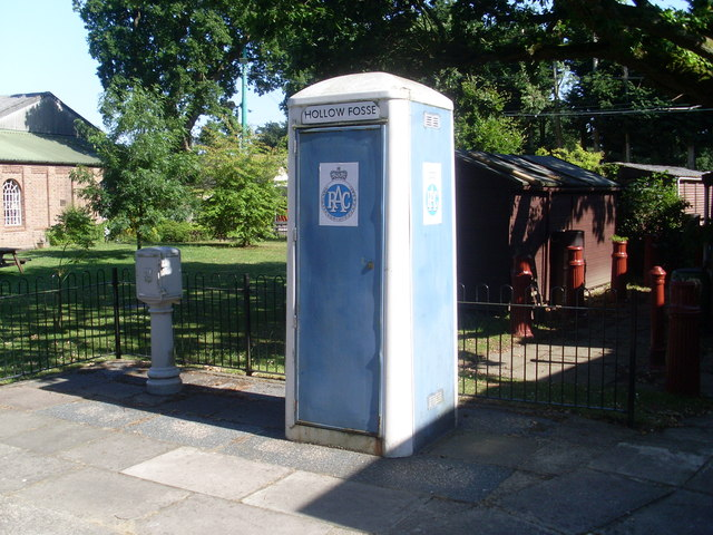 RAC Telephone Box at the East Anglia Transport Museum