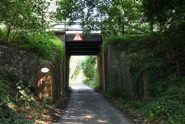 Reigate:  Railway bridge over Clifton's Lane