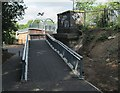 SK5939 : Eastern approach to the new railway footbridge at Trent Lane by John Sutton