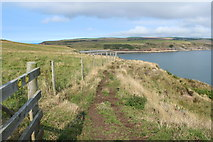 NX1430 : Mull of Galloway Trail near East Tarbet with Waymarkers by Billy McCrorie