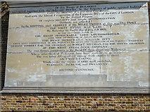 TQ3780 : Plaque, Hertsmere Road, Poplar, London by Christine Matthews
