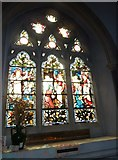 TQ1649 : St Martin, Dorking: stained glass window (H) by Basher Eyre
