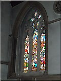 TQ1649 : St Martin, Dorking: stained glass window (Q) by Basher Eyre