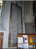 TQ1649 : St Martin, Dorking: Roll of Honour by Basher Eyre