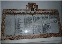 TQ1649 : St Martin, Dorking: incumbency lists (B) by Basher Eyre