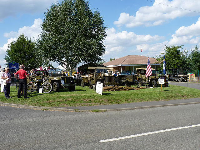 Display of military vehicles on Old Dalby Day 2013