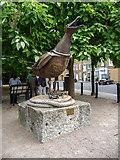 TQ3680 : Seagull Sculpture, Narrow Street, Limehouse, London by Christine Matthews