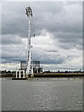 TQ3979 : Thames Cable Car Support Tower by David Dixon